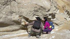 Expédition de paléontologues banque de vidéos