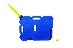 Expédition en plastique bleue de boîte métallique Photo libre de droits