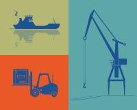 Expédition et industrie de cargaison. Images libres de droits