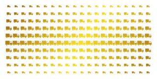 Expédition Van Golden Halftone Pattern Images stock