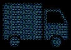 Expédition Van Mosaic Icon des bulles tramées Image stock