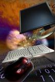 Expérience d'ordinateur Photo libre de droits