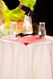 Expérience de chimie de jour du mariage Photos libres de droits
