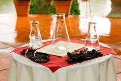 Expérience de chimie de jour du mariage Images libres de droits