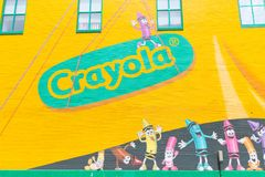 Expérience de Crayola d'Easton, Pennsylvanie photographie stock libre de droits