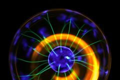 Expérience de lampe de plasma images libres de droits