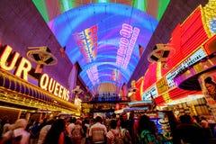 Expérience de rue de Fremont à Las Vegas Image libre de droits