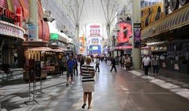 Expérience de rue de Fremont, Las Vegas, Nevada Photos stock