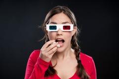 expérience du cinéma 3D Images libres de droits