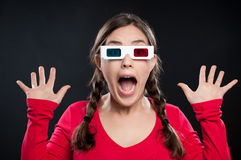 expérience du cinéma 3D Photos libres de droits