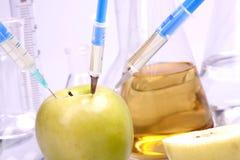 Expérimentation avec des fruits Photos stock