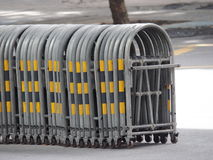 Expandable traffic barrier Royalty Free Stock Photography