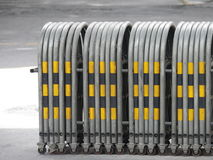 Expandable traffic barrier Stock Photo