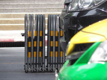Expandable traffic barrier Stock Image