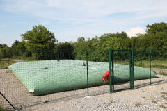Expandable Water Storage Balloon. This rural inflatable water storage balloon can expand to a height of 1,3m and volume of 60 cubic metres and may be used as a Royalty Free Stock Photography