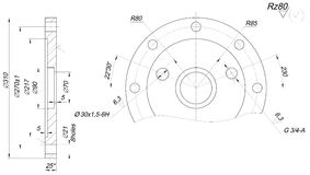 Expanded bearing sketch with angle degree Stock Image