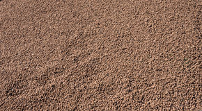 Expanded clay aggregate. Used in construction for insulation and soundproofing Royalty Free Stock Image