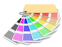 Expanded color palette Royalty Free Stock Images