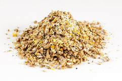 Expanded granulated animal feed Stock Photography