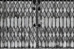 Expanded Metal Gate Royalty Free Stock Photo