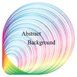 The Expanding Circles Pattern. Iridescent Striped Tunnel. Template for Visiting Cards, Labels, Fliers, Banners, Badges, Posters. Stickers and Advertising Stock Images