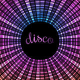 Expanding circular violet disco pattern Stock Photography