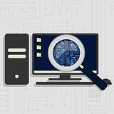 Expanding the electronic circuit Stock Images
