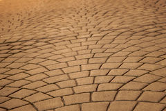 Expanding pavers horizontal Royalty Free Stock Image