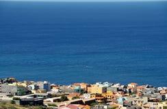 Expanding town of Achada Sao Filipe Stock Photos