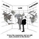 Expansão global da empresa de advocacia Imagens de Stock Royalty Free