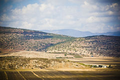 Expanse. View on the fields near arabic village in israel Royalty Free Stock Images