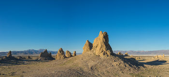 Expanse of Desert Rock Formations Royalty Free Stock Photos