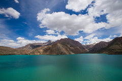 Expanse of Lake Iskander-Kul. Tajikistan.  stock images