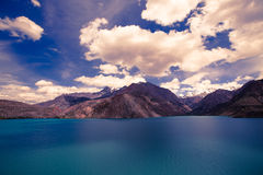 Expanse of Lake Iskander-Kul Stock Photo