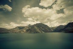 Expanse of Lake Iskander-Kul. Tajikistan. tinted Stock Photography