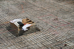 Expanse of Rebar before Concrete Pouring Royalty Free Stock Images