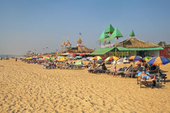 Expanse of sand and beach for Holidaymakers Royalty Free Stock Photography