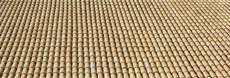 Expanse of tiled roof. Royalty Free Stock Photography