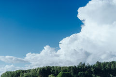 Expanse of water reservoirs, beautiful cloud Stock Photos
