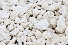 Expanse of white gravel. Useful image as background.  royalty free stock photos