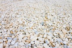 Expanse of white gravel. Useful image as background.  royalty free stock images
