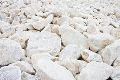 Expanse of white gravel Stock Photography