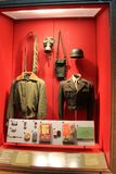 Expansief tentoongesteld voorwerp die de geschiedenis van oorlog, dit één van militair` s behoeften, het Nationale WO.II-Museum,  royalty-vrije stock foto's
