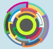 Expansion Circles Shapes Marketing Abstract Design Stock Image