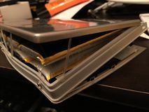 Expansion de batterie images stock