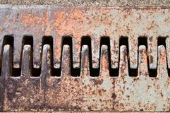 Expansion joint. Teeth meshing in a roadway expansion joint Stock Image