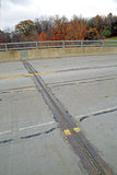 Expansion joint on bridge Royalty Free Stock Photo