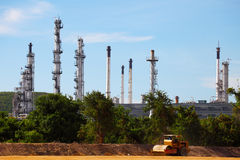Expansion Project of Oil and Gas Refinery Plant under Expansion. Expansion Project of Oil and Gas Refinery Plant under Construction Royalty Free Stock Photography