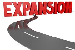 Expansion - road concept Stock Photography