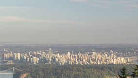 Expansive Cityscape View Vancouver Canada Time Lapse Royalty Free Stock Photo
